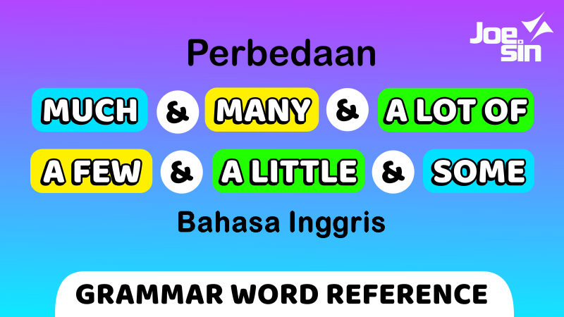 Quantifier: Some,  A Lot of, Many, Much, Several, a Few, a Little Bahasa Inggris   Joesin